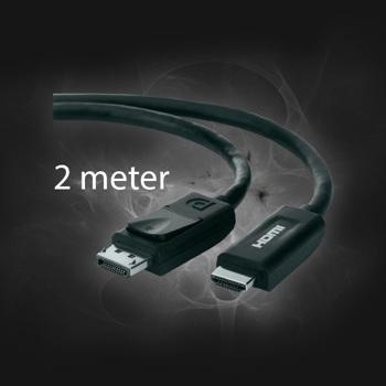 Displayport til HDMI 2M