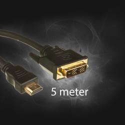 HDMI -> DVI  5,0 M kabel