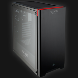 Corsair Carbide 275R Tempered Glass Black VG Edition