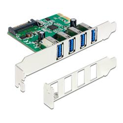 Delock PCI  udvidelseskort > 4 x udvendige USB 3.0 porte