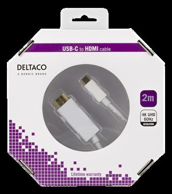 HDMI til USB-C 2m hvid