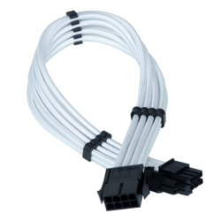 Vision 6+2pin hvid Extension (Sleeved)