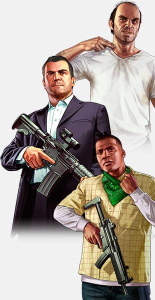 De 3 hovedkarakterer i GTA 5