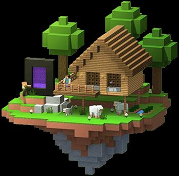 Hus bygget i Minecraft