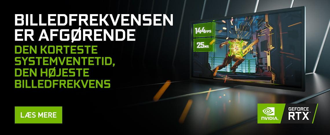 Gaming PC'er med NVIDIA grafikkort