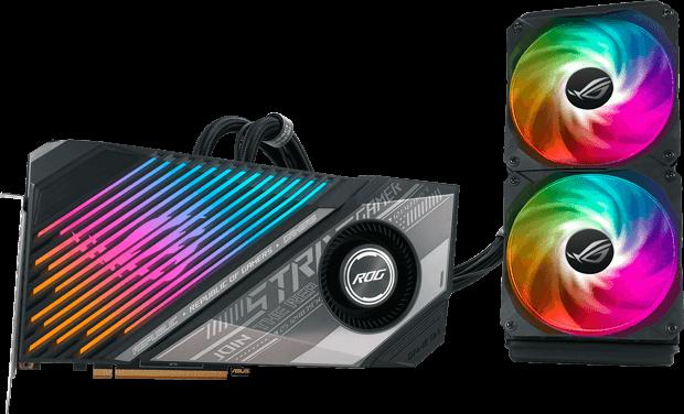 ASUS Radeon RX 6900 XT Ultimate ROG Strix LC grafikkort med RGB-lys