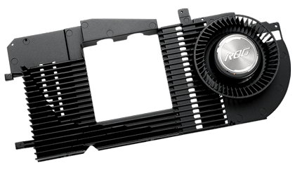 Blæser på ASUS Radeon RX 6900 XT Ultimate ROG Strix LC grafikkort