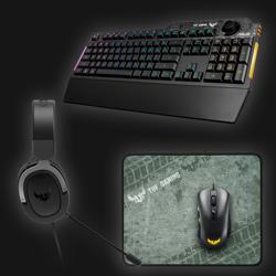 Asus TUF Gaming Bundle (keybord, mus, headset og musemåtte)
