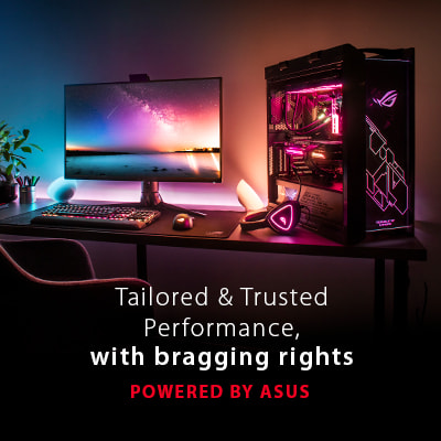 Powered by ASUS gamer pc