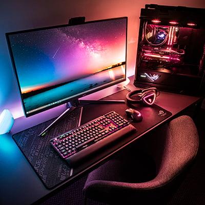 Gaming pc med ASUS Aura RGB