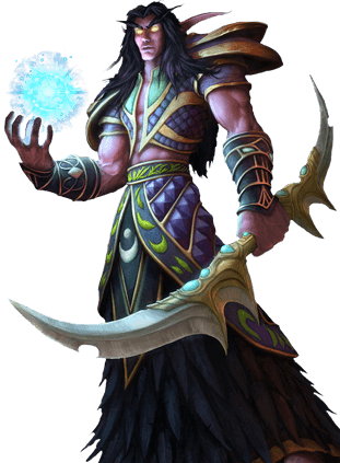 Night Elf karakterer fra World of Warcraft