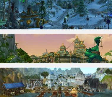 Billede af forskellige verdener fra WoW